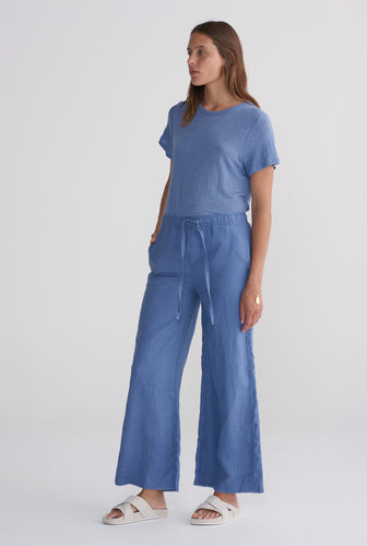 Relaxed Wide Leg Pant - Marine Blue