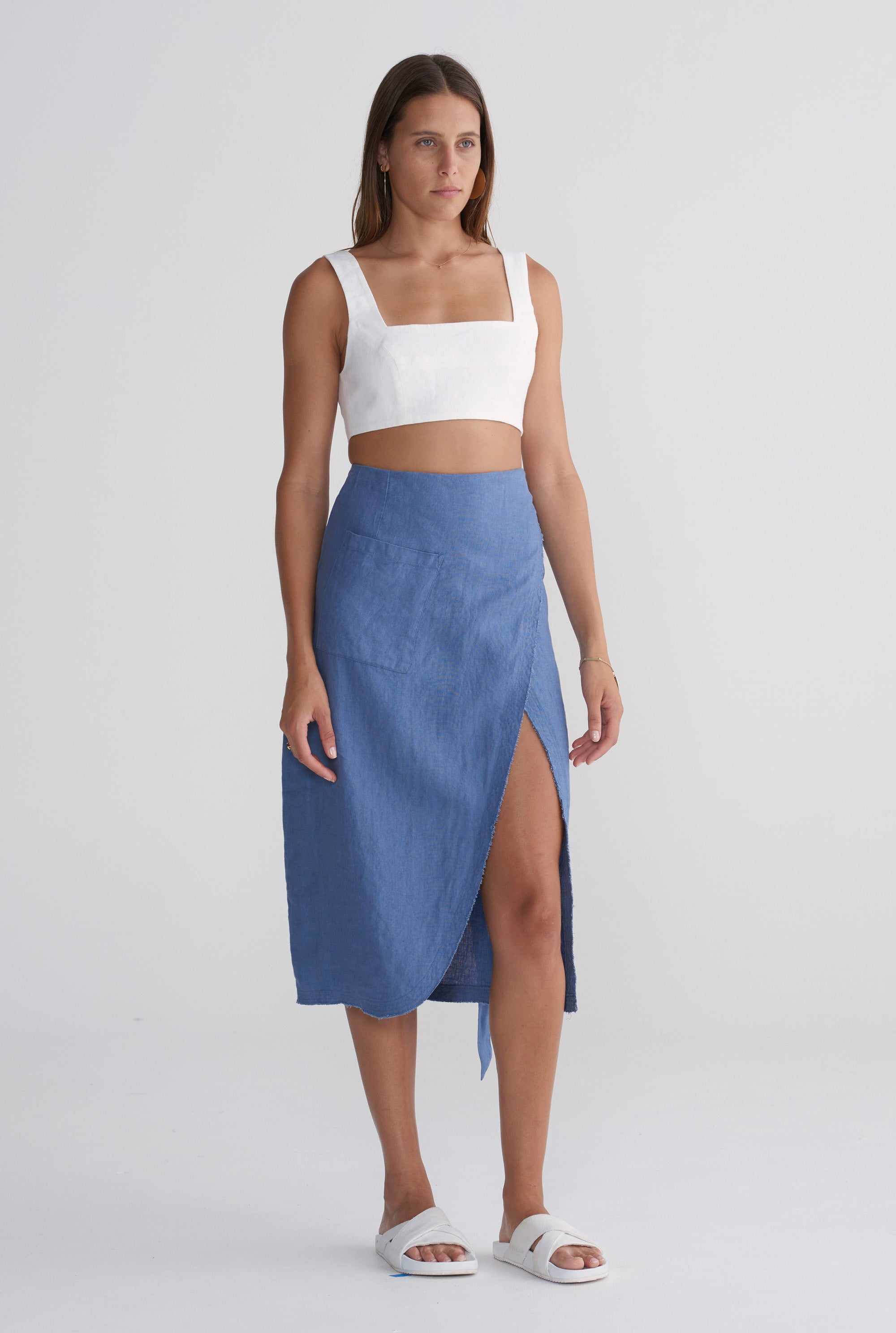 Wrap Skirt - Marine Blue