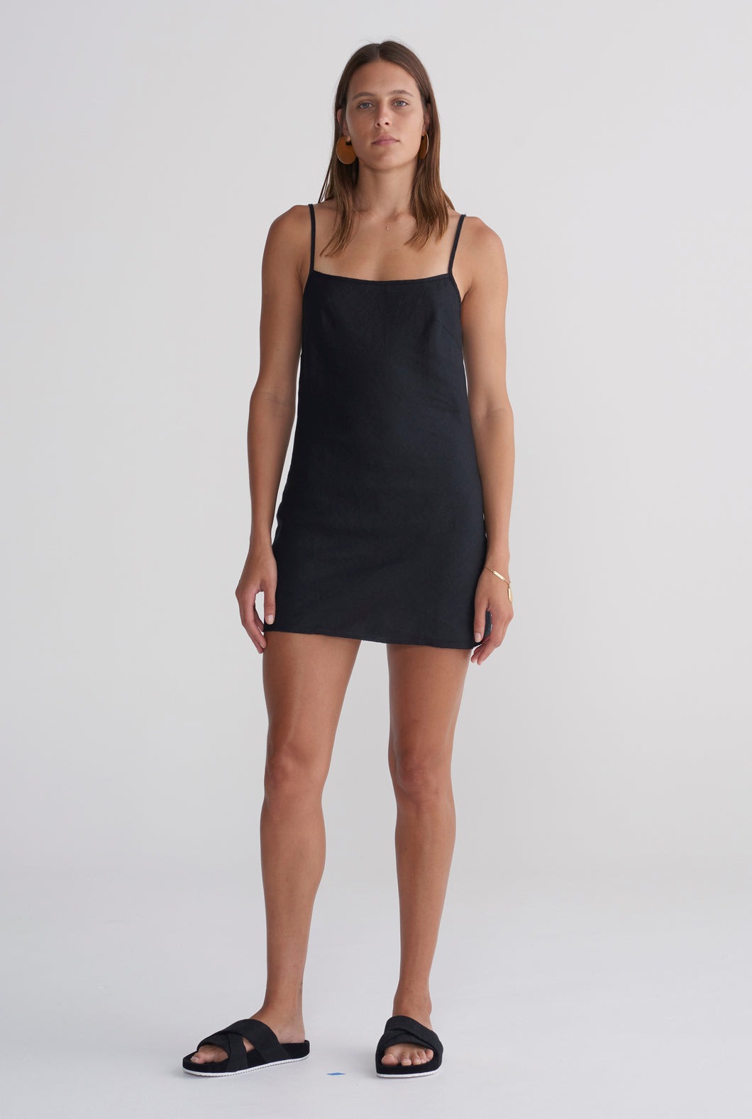 Mini Bias Dress - Black