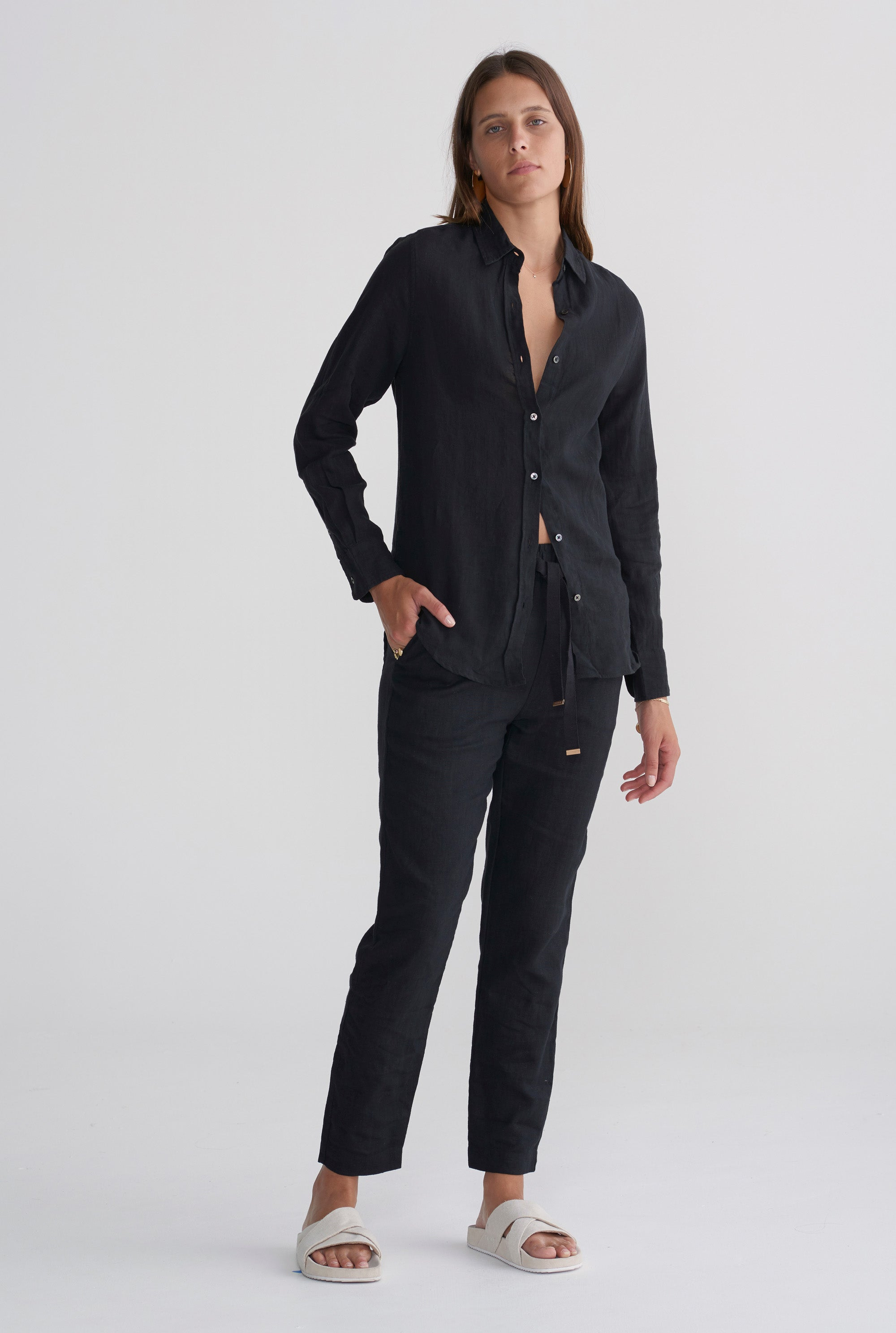 Womens Slim Shirt - Black
