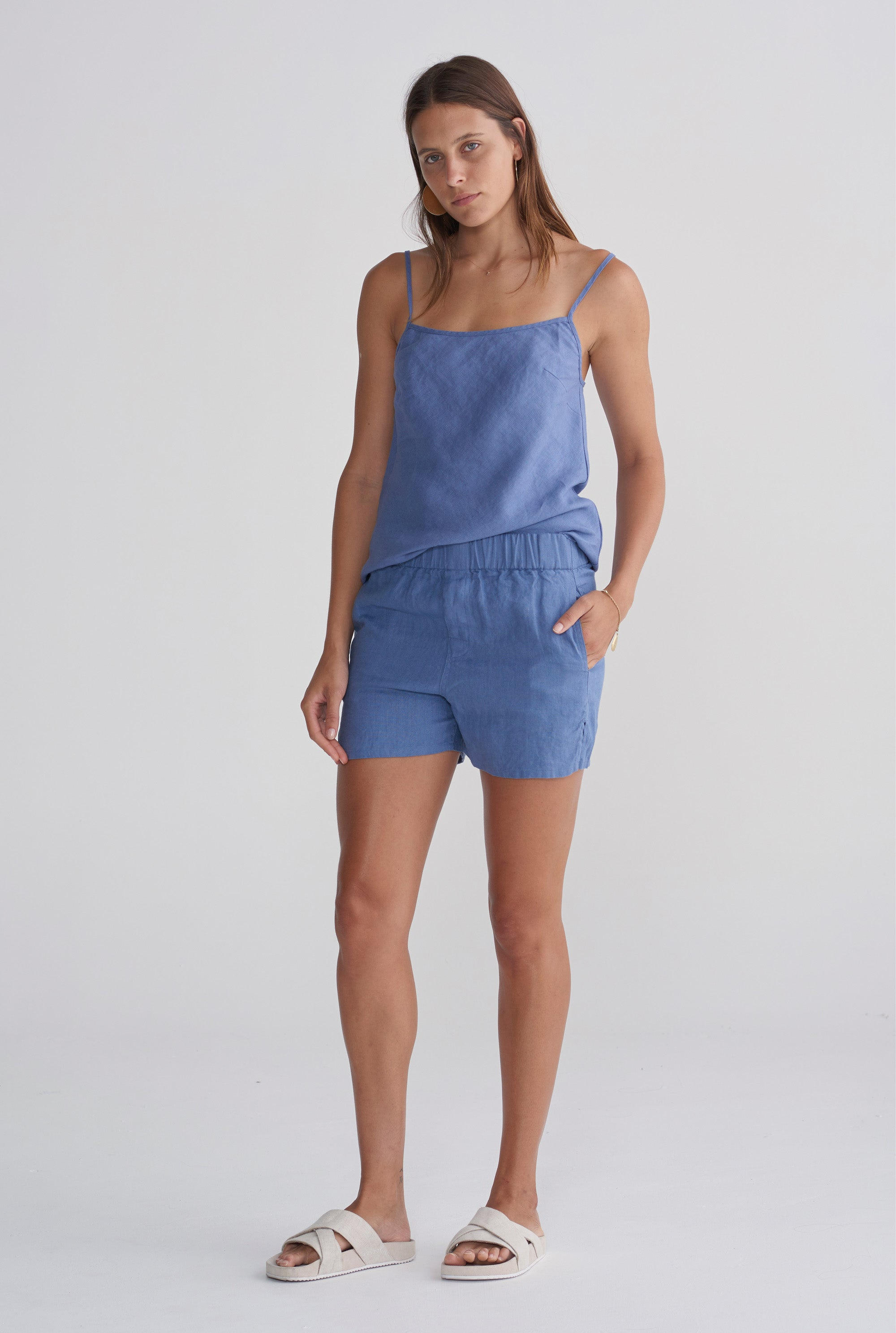 Womens Bias Cami - Marine Blue
