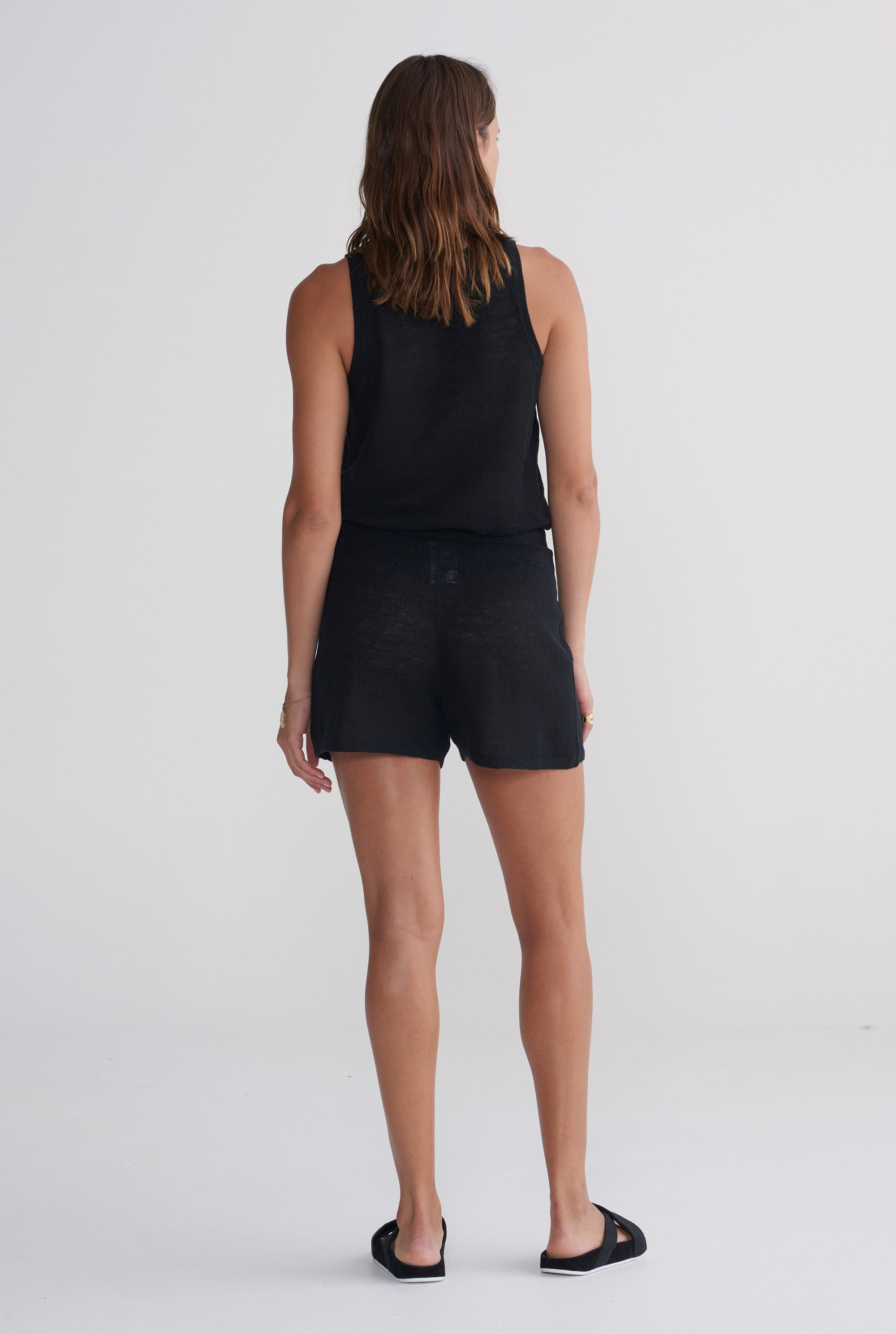 Knitted Short - Black