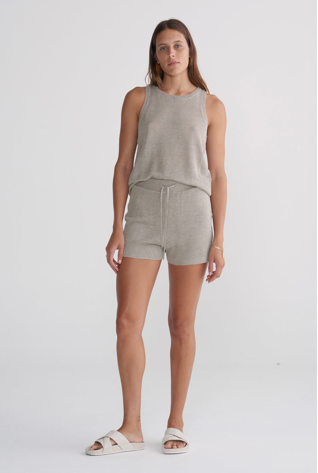 Knitted Short - Taupe