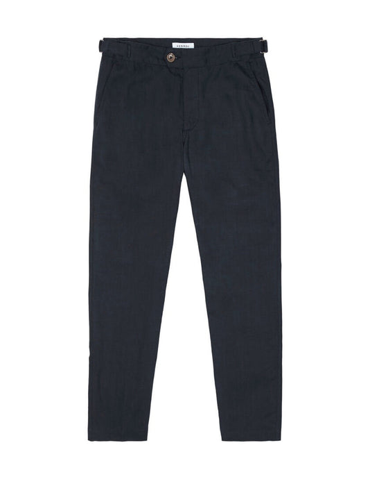 SIDE TAB TROUSER - NAVY