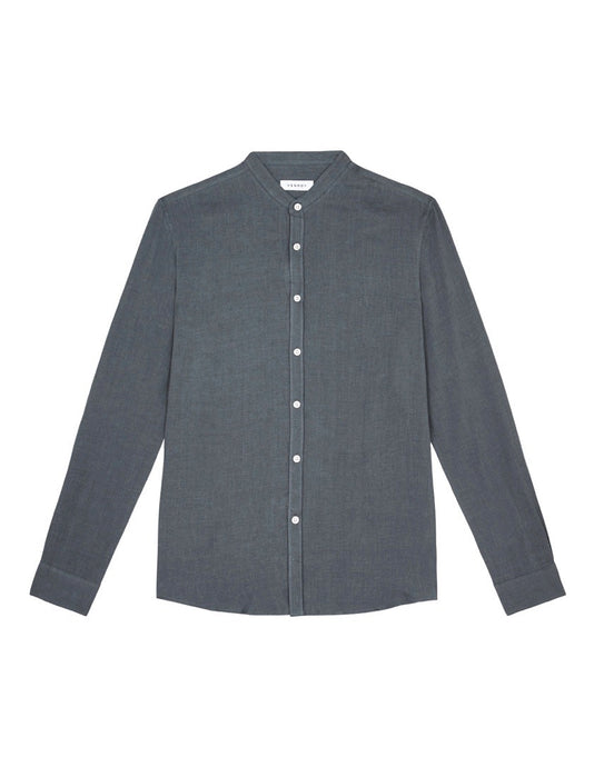 GRANDAD COLLAR - SMOKE GREY