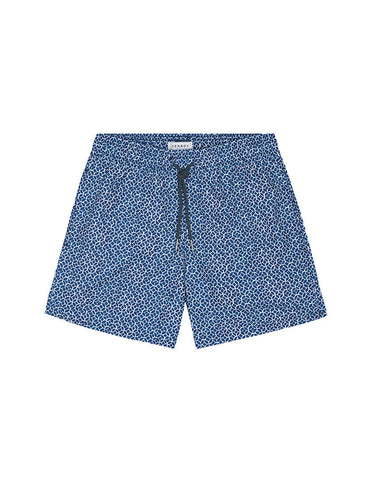 SWIM SHORT - TEAL/BLUE MOSAIC