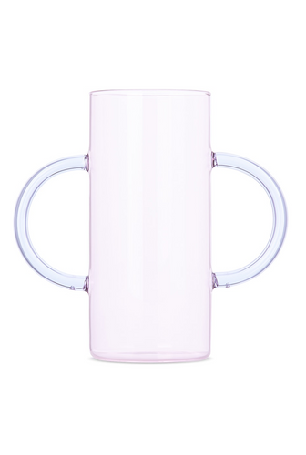 Sophie Lou Jacobsen Double Handle Vase - Pink/Purple Handle