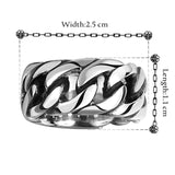 Stainless Rope Dress Ring