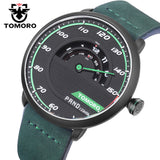TOMORO Men's Unique Racing Car Design Luxury Fashion Sports Quartz Wrist Watch
