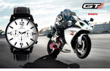 GT WATCH Mens Quartz Car Racing Style Sports Outdoor Wrist Watch
