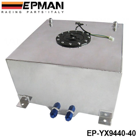 EPMAN 40L (10.5G) Fuel Cell  Polished Aluminium with Fuel Sender