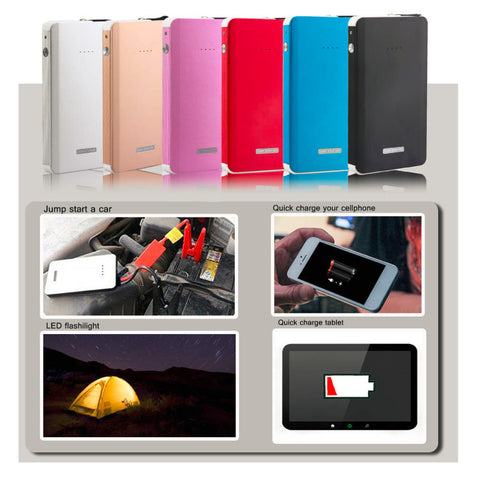 Multifunction 30000mAh Car Jump Starter & Mini Battery Charger Power Bank