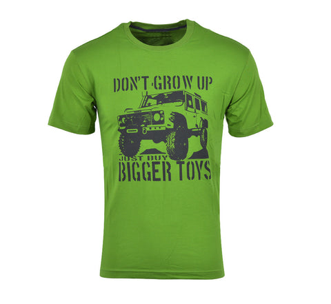 Men's Casual 4X4 T Shirt 'Don't Grow Up Just Buy Bigger Toys
