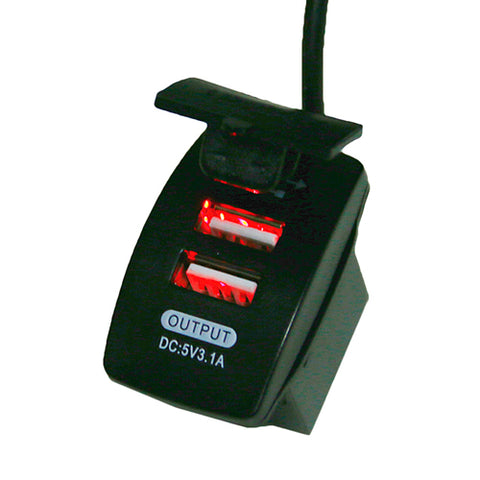 USB 12V-24V Charger Red