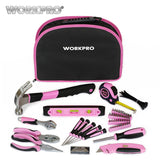 WORKPRO 103 Piece Women Pink Hand Held Bag Tool Set For the Car