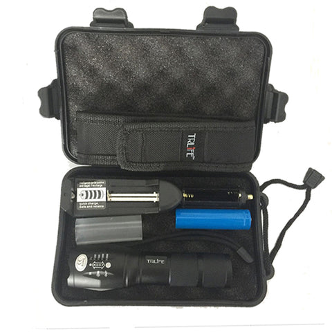 Military Grade LED Flashlight with Case