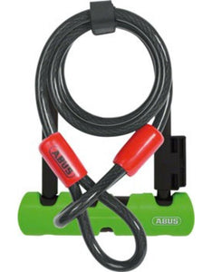 ABUS Ultra Mini 410 + Loop Cable Bicycle U-Lock-Bicycle Locks-Abus-Voltaire Cycles of Verona