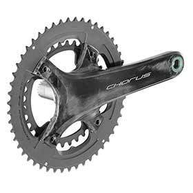 Campagnolo Chorus Crankset Speed: 12 Spindle: 25mm Bcd: 96/123 34/50 Ultratorque 1725mm Black Road Disc-Cranksets-Campagnolo-Voltaire Cycles of Verona