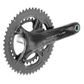 Campagnolo Chorus Crankset Speed: 12 Spindle: 25mm Bcd: 96/123 36/52 Ultratorque 170mm Black Road Disc-Cranksets-Campagnolo-Voltaire Cycles of Verona