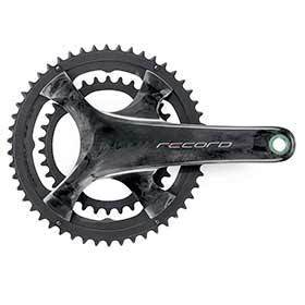 Campagnolo Record Crankset Speed: 12 Spindle: 25mm Bcd: 112/145 34/50 Ultratorque 1725mm Carbon Road Disc-Cranksets-Campagnolo-Voltaire Cycles of Verona