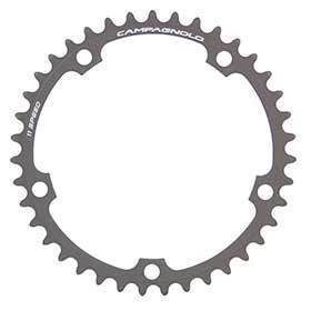 Campagnolo Super Record Chainring Teeth: 39 Speed: 11 Bcd: 135 Bolts: 5 Inner Aluminum Grey-Chainrings-Campagnolo-Voltaire Cycles of Verona