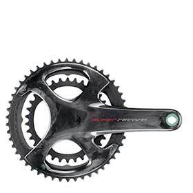 Campagnolo Super Record Crankset Speed: 12 Spindle: 25mm Bcd: 112/145 39/53 Ultratorque 175mm Carbon Road Disc-Cranksets-Campagnolo-Voltaire Cycles of Verona