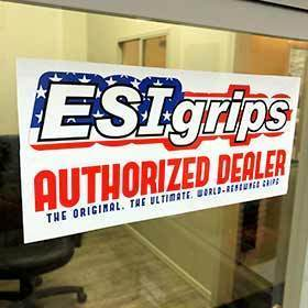 Esi Esi Authorized Dealer Window Static Cling Sign-Merchandising-ESI-Voltaire Cycles of Verona