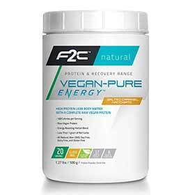 F2c Nutrition Vegan-Pure Energy Drink Mix Caramel Macchiato 30 Servings-Nutrition-F2C Nutrition-Voltaire Cycles of Verona