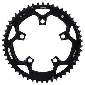 Fsa 46t 10/11sp Bcd: 110mm 5 Bolts Pro Road Outer Chainring For Double Aluminum Black 371-0246d-Chainrings-FSA-Voltaire Cycles of Verona