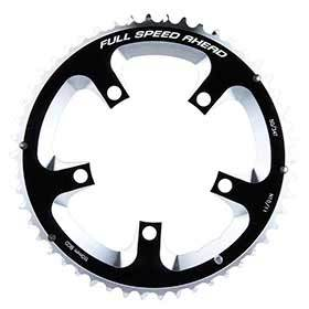 Fsa 50t 10/11sp Bcd: 110mm 5 Bolts Super Road Outer Chainring For Double Aluminum Black 371-0250a-Chainrings-FSA-Voltaire Cycles of Verona