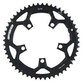 Fsa 52t 10/11sp Bcd: 110mm 5 Bolts Pro Road Outer Chainring For Double Aluminum Black 371-0252h-Chainrings-FSA-Voltaire Cycles of Verona