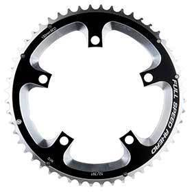 Fsa 52t 10sp Bcd: 130mm 5 Bolts Extérieur Chainring For Road Triple Aluminum Black 370-0152b2-Chainrings-FSA-Voltaire Cycles of Verona