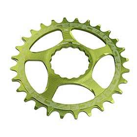 Race Face Cinch Direct Mount 30t Chainring 9-12sp Bcd: Direct Mount 7075-T6 Aluminum Green-Chainrings-Race Face-Voltaire Cycles of Verona