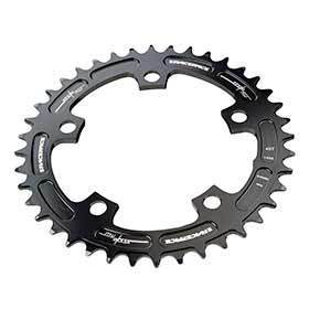 Race Face Narrow Wide 110mm Bcd 38t Chainring 9-12sp Bcd: 110 7075-T6 Aluminum Black-Chainrings-Race Face-Voltaire Cycles of Verona