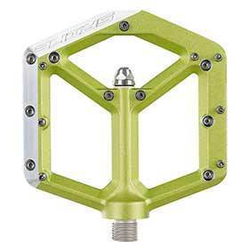 Spank Spike Platform Pedals Alloy Body Steel Axle 100mm X 100mm Green-Pedals-Spank-Voltaire Cycles of Verona
