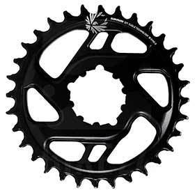 Sram 12sp X-Sync 2 34t Chainring 12sp Bcd: Direct Mount 6mm Offset Aluminum Black-Chainrings-SRAM-Voltaire Cycles of Verona