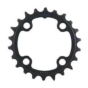 Sram 22t 10 Sp Bcd 64mm 4-Bolt Inner Chainring For Mtb Triple Aluminum Black 116215188370-Chainrings-SRAM-Voltaire Cycles of Verona