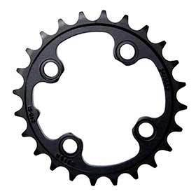 Sram 24t Chainring 11sp Bcd: 64 Aluminum Black-Chainrings-SRAM-Voltaire Cycles of Verona