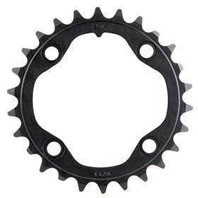 Sram 26t 10 Sp Bcd 80mm 4-Bolt All 26/39 Inner Chainring For Mtb Double Aluminum Black 116215188310-Chainrings-SRAM-Voltaire Cycles of Verona