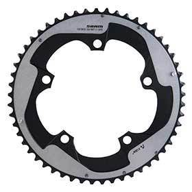 Sram 53d 11sp Bcd: 130mm 5 Bolts Red22 X-Glide Outer Chainring For 39/53 Aluminum Grey 116218009000-Chainrings-SRAM-Voltaire Cycles of Verona