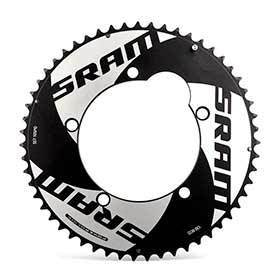 Sram 55t 10 Sp Bcd 130mm 5-Bolt Red Tt Outer Chainring For Tt 55 Aluminum Black 116215198040-Chainrings-SRAM-Voltaire Cycles of Verona