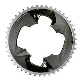 Sram Force Axs 2x Chainring Teeth: 46 Speed: 12 Bcd: 107 Bolts: 4 Outer Aluminum Grey-Chainrings-SRAM-Voltaire Cycles of Verona