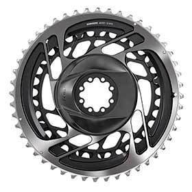Sram Red Axs 2x Chainring Teeth: 33/46 Speed: 12 Bcd: Direct Mount Pair Aluminum Grey-Chainrings-SRAM-Voltaire Cycles of Verona