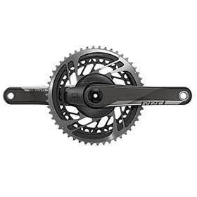 Sram Red Axs Quarq Power Meter Crankset Speed: 12 Spindle: 2899mm Bcd: Direct Mount 48/35 Dub 1725mm Black Road-Cranksets-SRAM-Voltaire Cycles of Verona