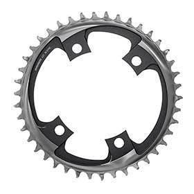 Sram X-Sync 2 107mm Chainring Teeth: 46 Speed: 12 Bcd: 107 Bolts: 4 Single Aluminum Black-Chainrings-SRAM-Voltaire Cycles of Verona