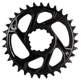 Sram X-Sync 2 6mm Offset 38t 12sp Bcd: Direct Mount Single Chainring Aluminum Black-Chainrings-SRAM-Voltaire Cycles of Verona