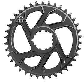 Sram X-Sync 2 Sl 3mm Chainring Teeth: 38 Speed: 11/12 Bcd: Direct Mount Single Aluminum Black-Chainrings-SRAM-Voltaire Cycles of Verona
