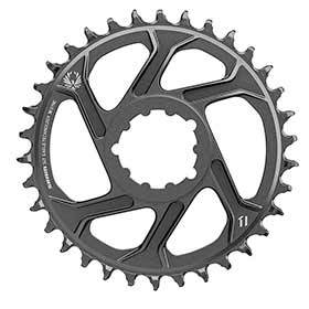 Sram X-Sync 2 Sl 6mm Chainring Teeth: 34 Speed: 11/12 Bcd: Direct Mount Single Aluminum Black-Chainrings-SRAM-Voltaire Cycles of Verona