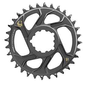 Sram X-Sync 2 Sl 6mm Chainring Teeth: 34 Speed: 11/12 Bcd: Direct Mount Single Aluminum Gold-Chainrings-SRAM-Voltaire Cycles of Verona