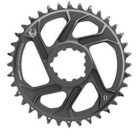 Sram X-Sync 2 Sl 6mm Chainring Teeth: 36 Speed: 11/12 Bcd: Direct Mount Single Aluminum Black-Chainrings-SRAM-Voltaire Cycles of Verona